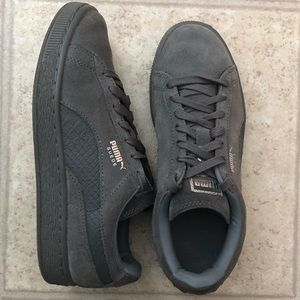 Gray Puma Suede Sneakers